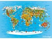 Flis foto tapeta AG Karta svijeta FTNM-2650 | 160x110 cm Foto tapete