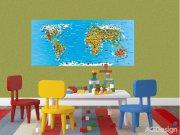 Flis foto tapeta AG Karta svijeta FTNH-2731 | 202x90 cm Foto tapete