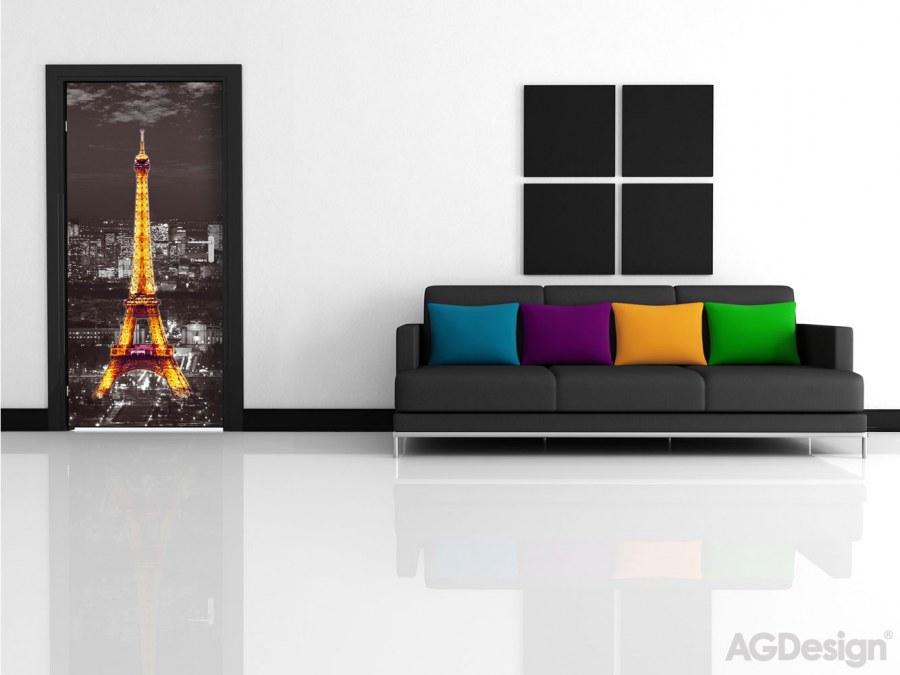 Flis foto tapeta AG Noćni Pariz FTNV-2912 | 90x202 cm - Foto tapete