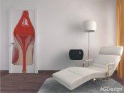 Vliesová fototapeta Red shoe FTNV-2814 | 90x202 cm Fototapety vliesové - Vliesové fototapety AG