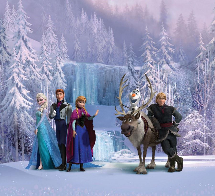 Foto zavjesa Snježno kraljevstvo FCSXL-4303, 180 x 160 cm