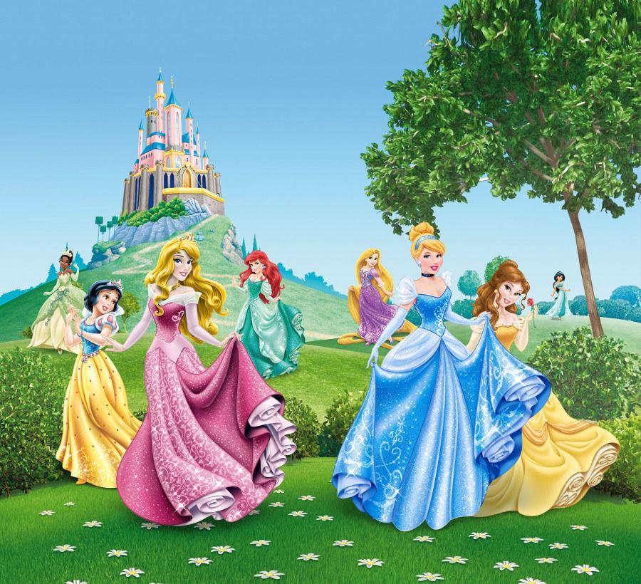Foto zavjese Princeze kod dvorca FCSXL-4319, 180 x 160 cm - Foto zavjese