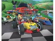 3D foto tapeta Mickey Mouse závody Walltastic 45293 | 305 x 244 cm Foto tapete