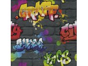 Dječja papirnata tapeta za zid graffiti 237801 Na skladištu