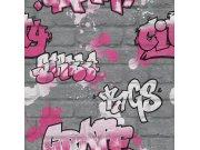 Dječja papirnata tapeta za zid graffiti 237818 Rasch