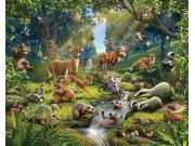 3D foto tapeta Walltastic Životinje iz šume 43060 | 305x244 cm Foto tapete