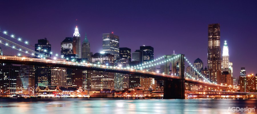 Flis foto tapeta AG Brooklyn Bridge FTNH-2714 | 202x90 cm - Foto tapete