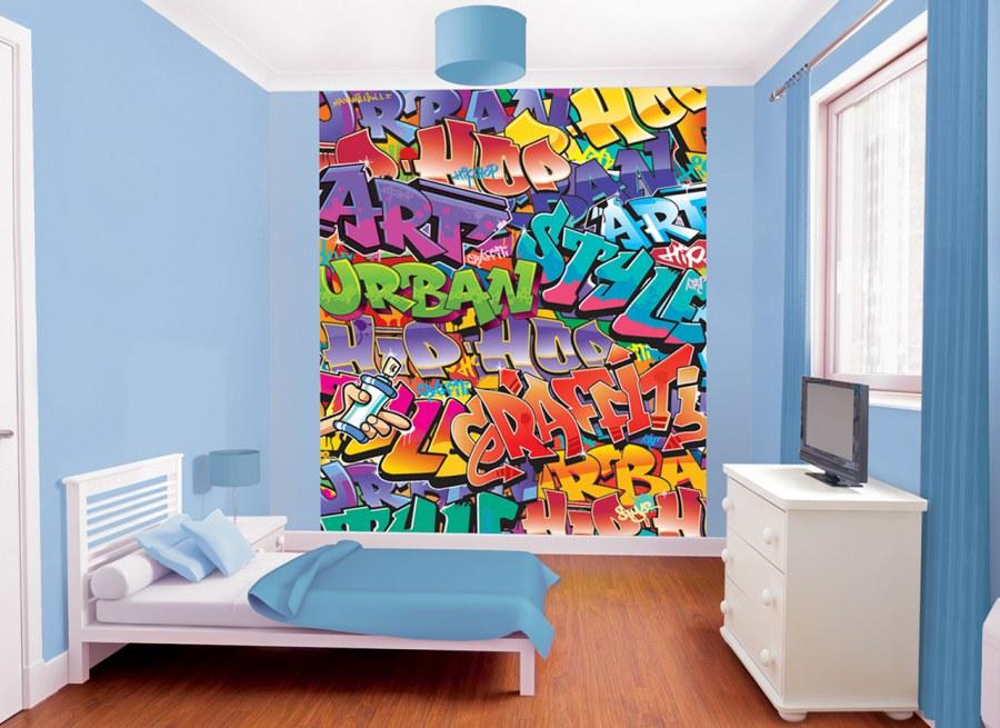 3D foto tapeta Walltastic Graffiti 42827 | 203x243cm - Foto tapete