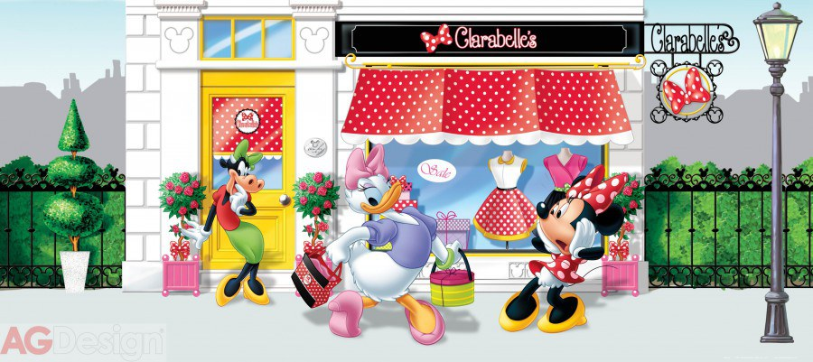 Flis foto tapeta AG Minnie Mouse FTDNH-5322 | 202x90 cm - Foto tapete