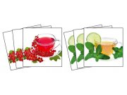 Samoljepljiva dekoracija za pločice Cup of Tea TI-002, 15x15 cm Naljepnice za pločice