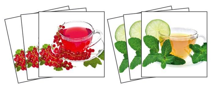 Samoljepljiva dekoracija za pločice Cup of Tea TI-002, 15x15 cm - Naljepnice za pločice
