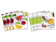 Samoljepljiva dekoracija za pločice Fruits TI-003, 15x15 cm Naljepnice za pločice