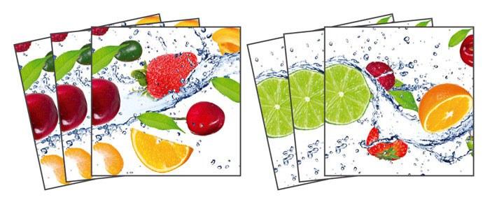 Samoljepljiva dekoracija za pločice Fruits TI-003, 15x15 cm - Naljepnice za pločice