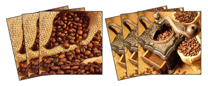 Samoljepljiva dekoracija za pločice Coffee TI-007, 15x15 cm - Naljepnice za pločice