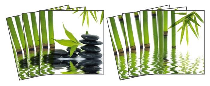 Samoljepljiva dekoracija za pločice Zen TI-012, 15x15 cm - Naljepnice za pločice