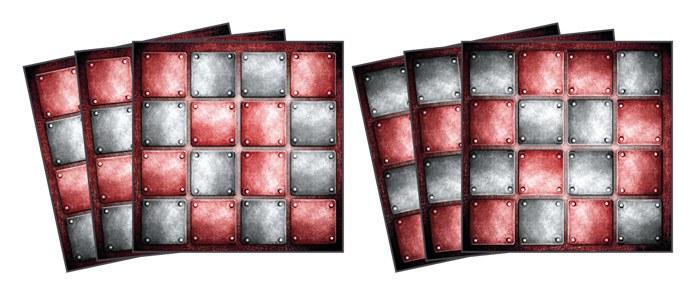 Samoljepljiva dekoracija za pločice Metal TI-019, 15x15 cm - Naljepnice za pločice