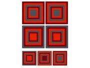 Samoljepljiva dekoracija za zid Red Squares ST1-020, 50 x 70 cm Naljepnice za zid