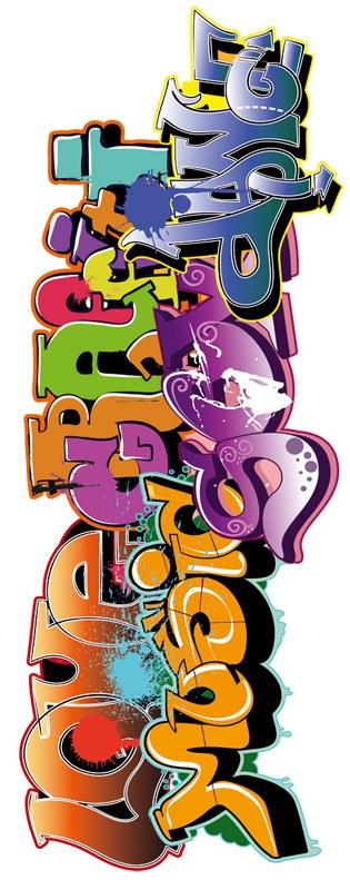 Dječja naljepnica za zid Graffiti ST2-005, 65x165 cm - Naljepnice za dječju sobu