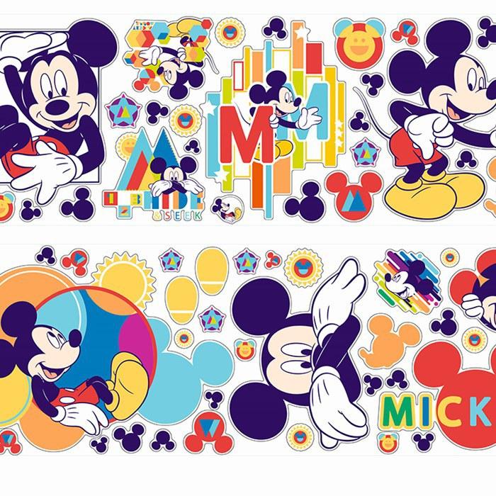 Dječje naljepnice Mickey Mouse D40206, 70x50 cm - Naljepnice za dječju sobu